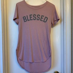 "Womans Small Hi-Low Soft ""Blessed"" Tee"